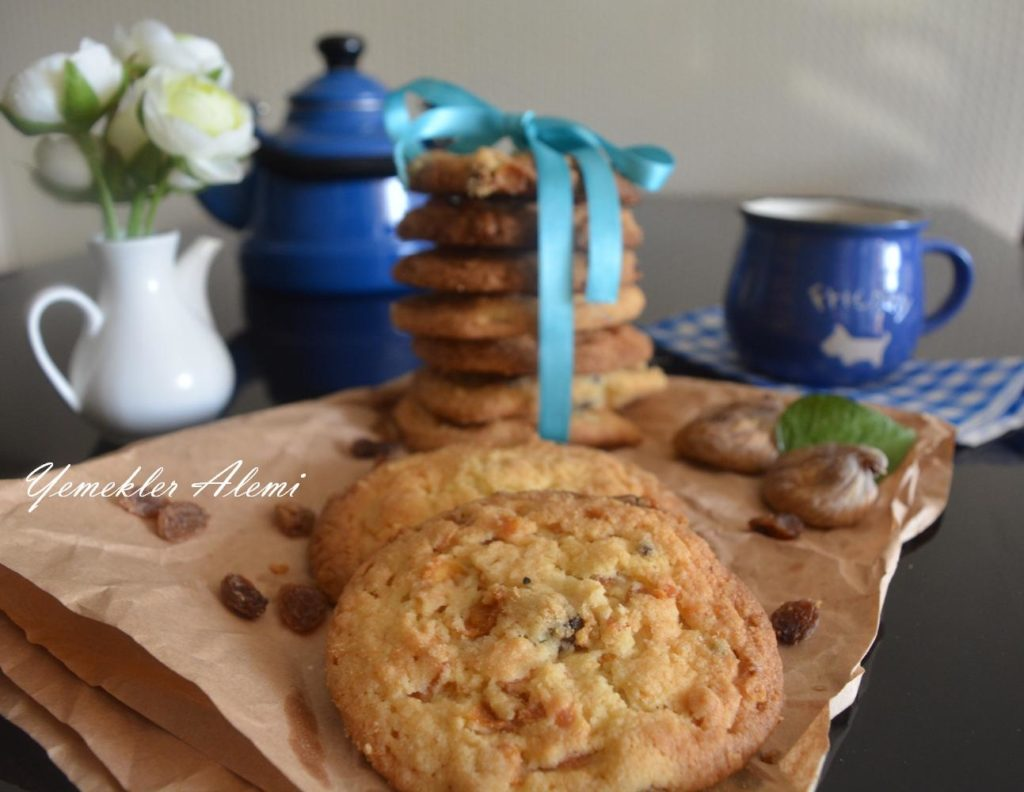 Kuru Meyveli Cookie (Ev Bisküvisi)