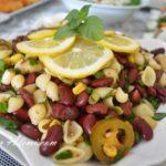 Makarnalı Kırmızı Fasulye Salatası(Meksika Fasulyesi)